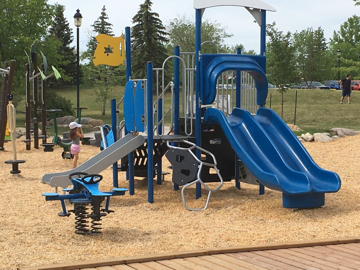 The new playground at Harbourview.