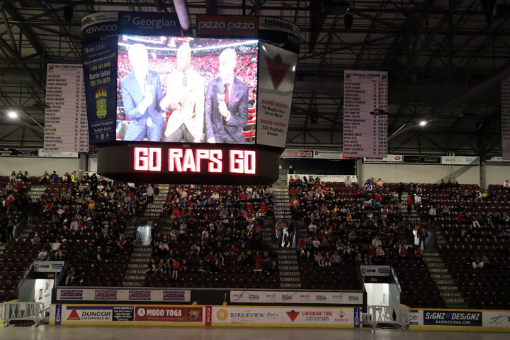 An estimated 1,200 plus people filled the Barrie Molson Centre's stadium Monday night.