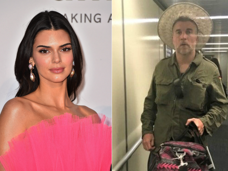 At left, Kendall Jenner. At right, John Ford, who was deported to Canada after stalking the model, according to ICE.