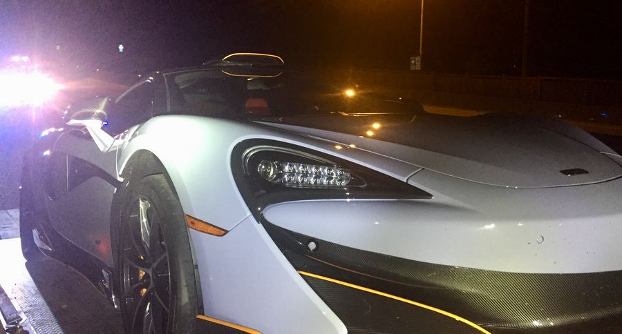West Vancouver police impounded this McLaren in June. The driver said they had driven off the lot just 10 minutes prior to being stopped by police.
