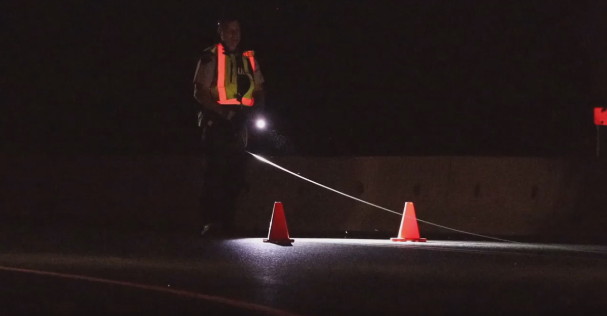 Police investigate the scene of a fatal crash in Mission on Tuesday night.