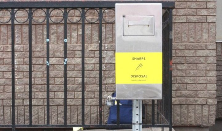 Edmonton has installed 23 new safe needle disposal boxes in the city. Wednesday, June 12, 2019.