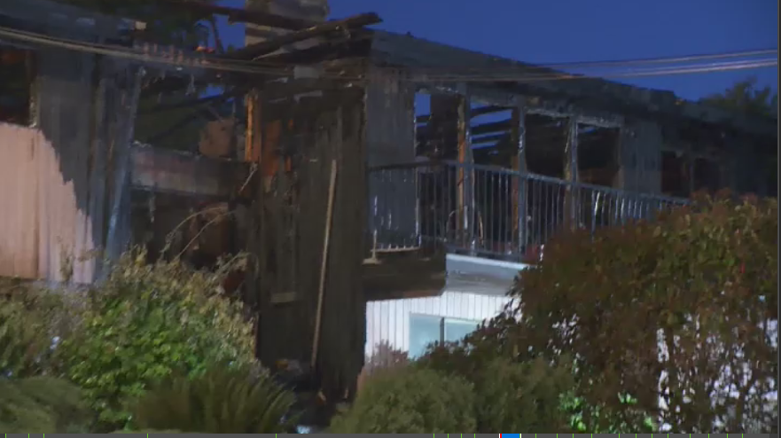 Fire destroyed a home on Lima Road in North Vancouver early Monday morning.