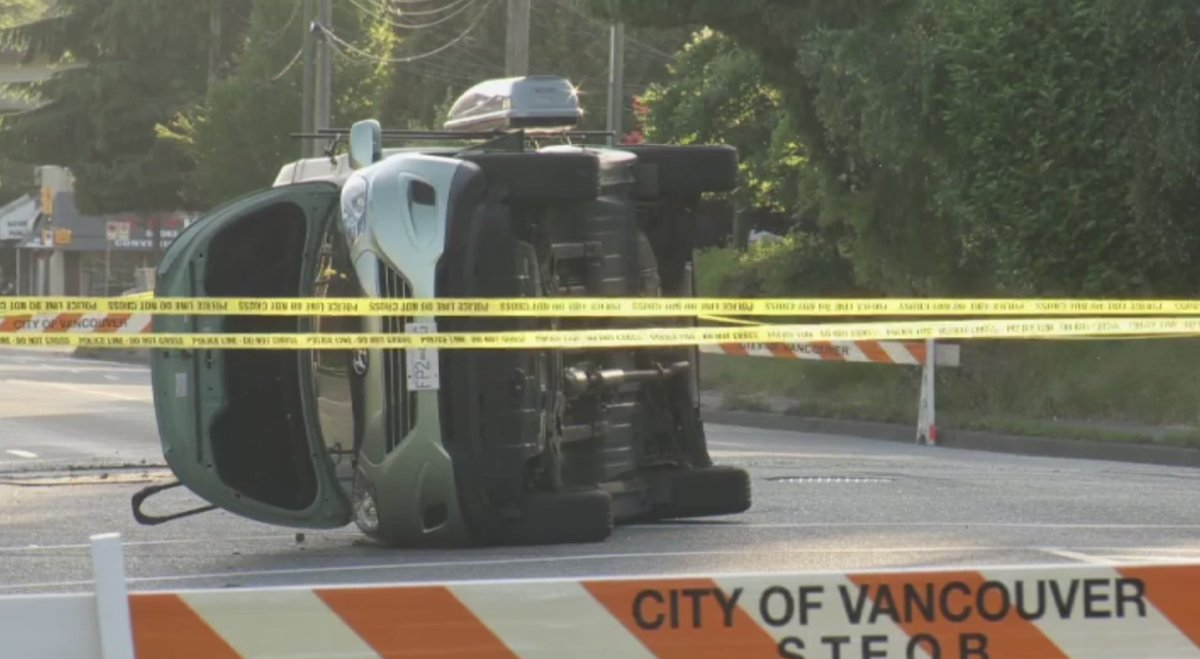 VPD seeking driver who fled after four-vehicle collision - image