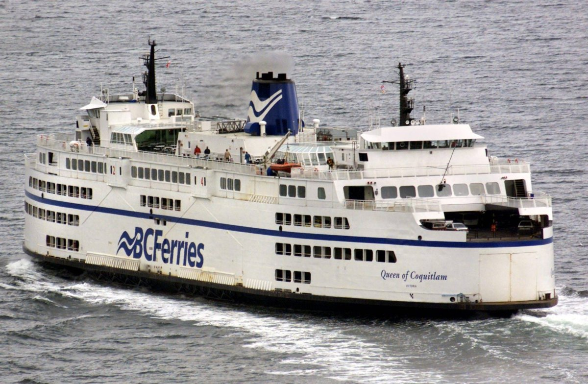The B.C. ferry Queen of Coquitlam leaves Horseshoe Bay on the 10:30 a.m. sailing to Nanaimo Monday Dec. 8, 2003.