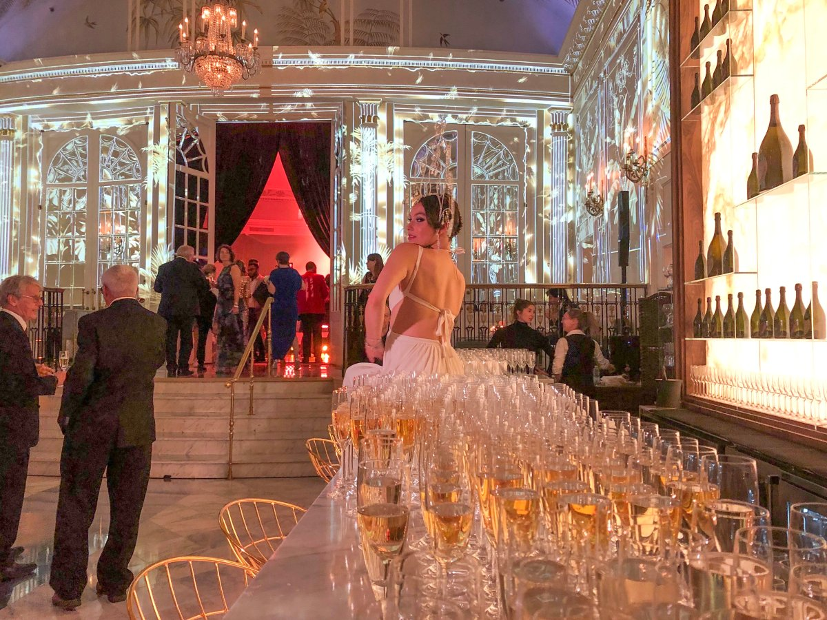 Free-flowing champagne at the Ritz-Carlton Grand Prix party. Friday June 07, 2019.