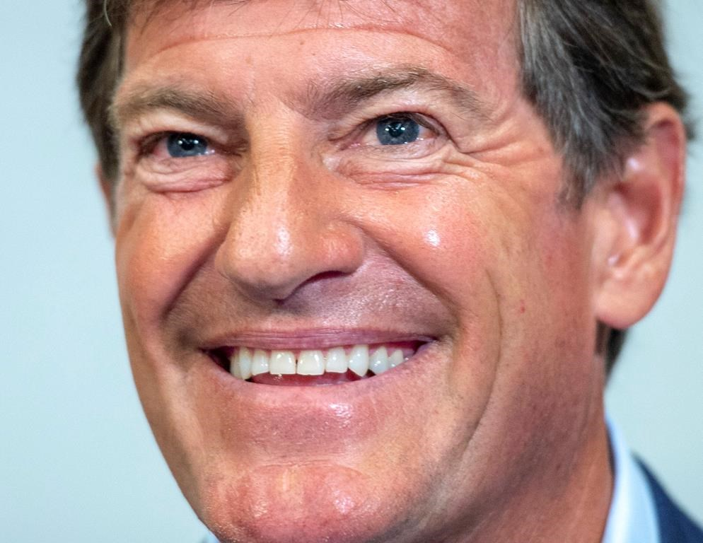 Stephen Bronfman speaks to the media about the prospect of Major League Baseball returning to Montreal Wednesday, June 26, 2019.
