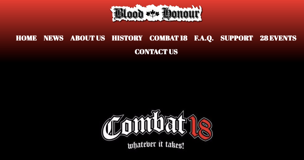 An image from the Blood & Honour website.