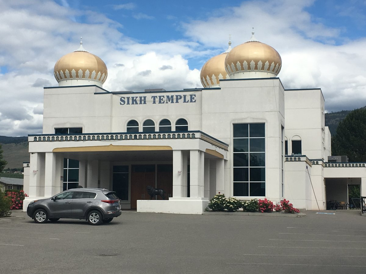 A man, 29, allegedly assaulted three people in Okanagan Sikh Temple in Kelowna early Monday morning.