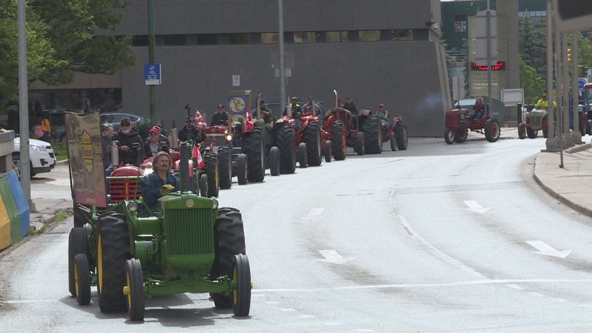 Tractors made their way through Winnipeg Saturday as part of the Manitoba Threshermen's Reunion and Stampede.