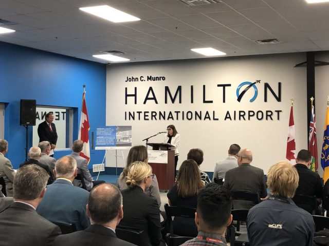 Hamilton-West Ancaster Dundas MP and Minister of Seniors Filomena Tassi has announced federal funding of more than $18 million towards modernization at Hamilton International Airport.