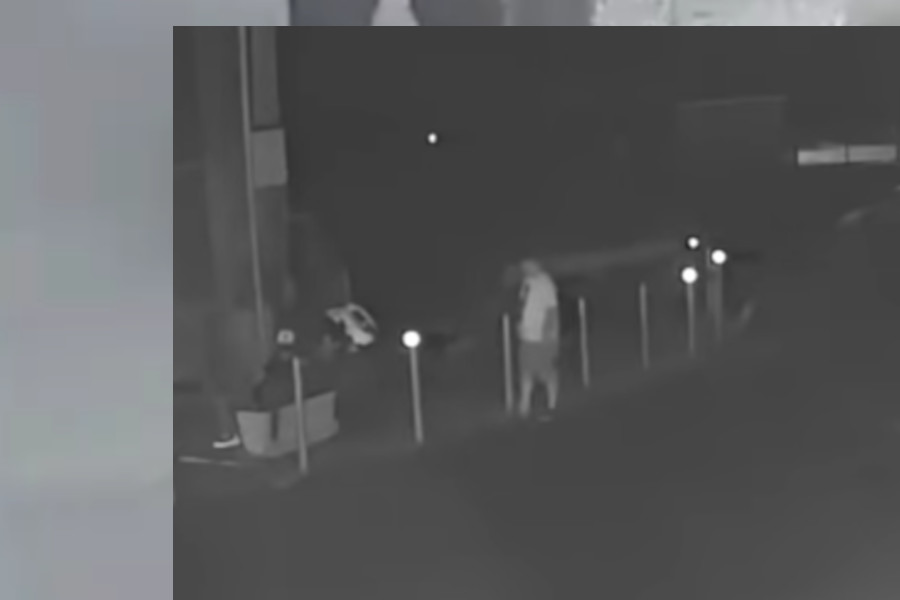 Waterloo Regional Police are looking for the suspects in this still.