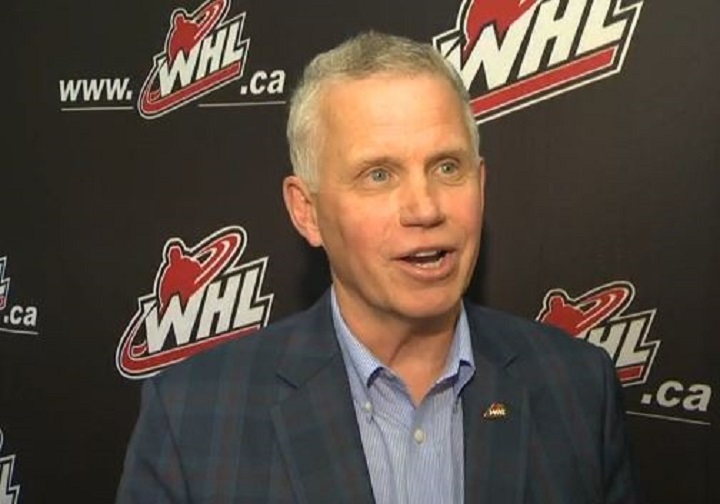 WHL commissioner Ron Robison, seen here after the 2019 AGM in Kelowna.