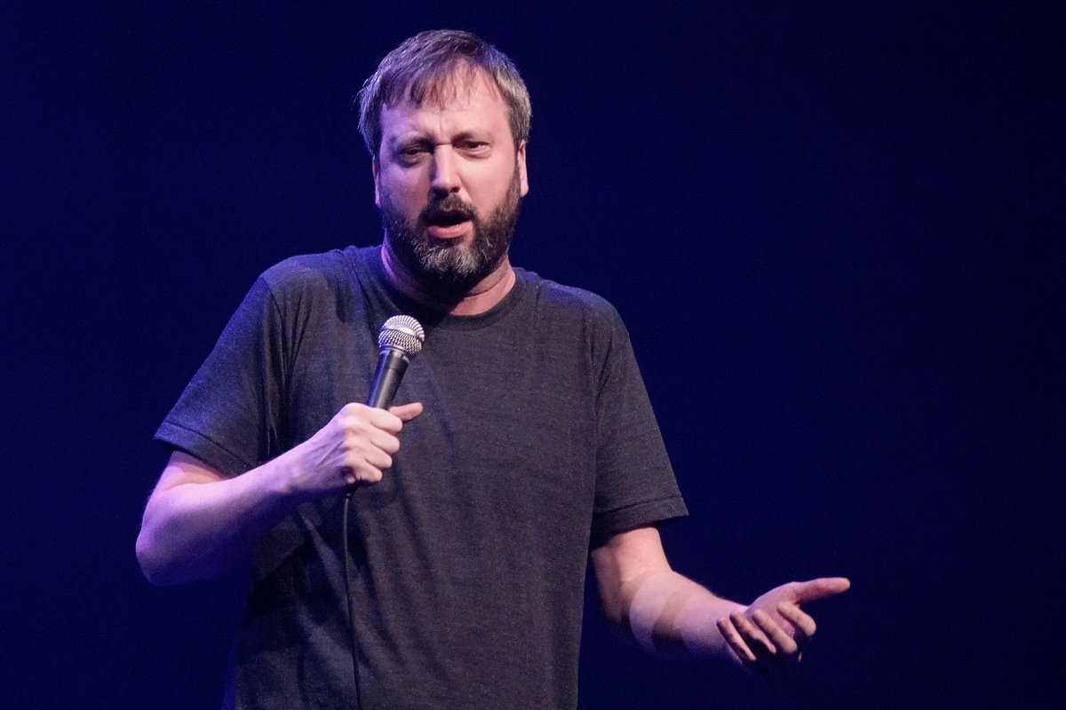 Stand-up comedian Tom Green performing at the Salle Andre-Mathieu in Laval, Que., Mar. 7, 2016.