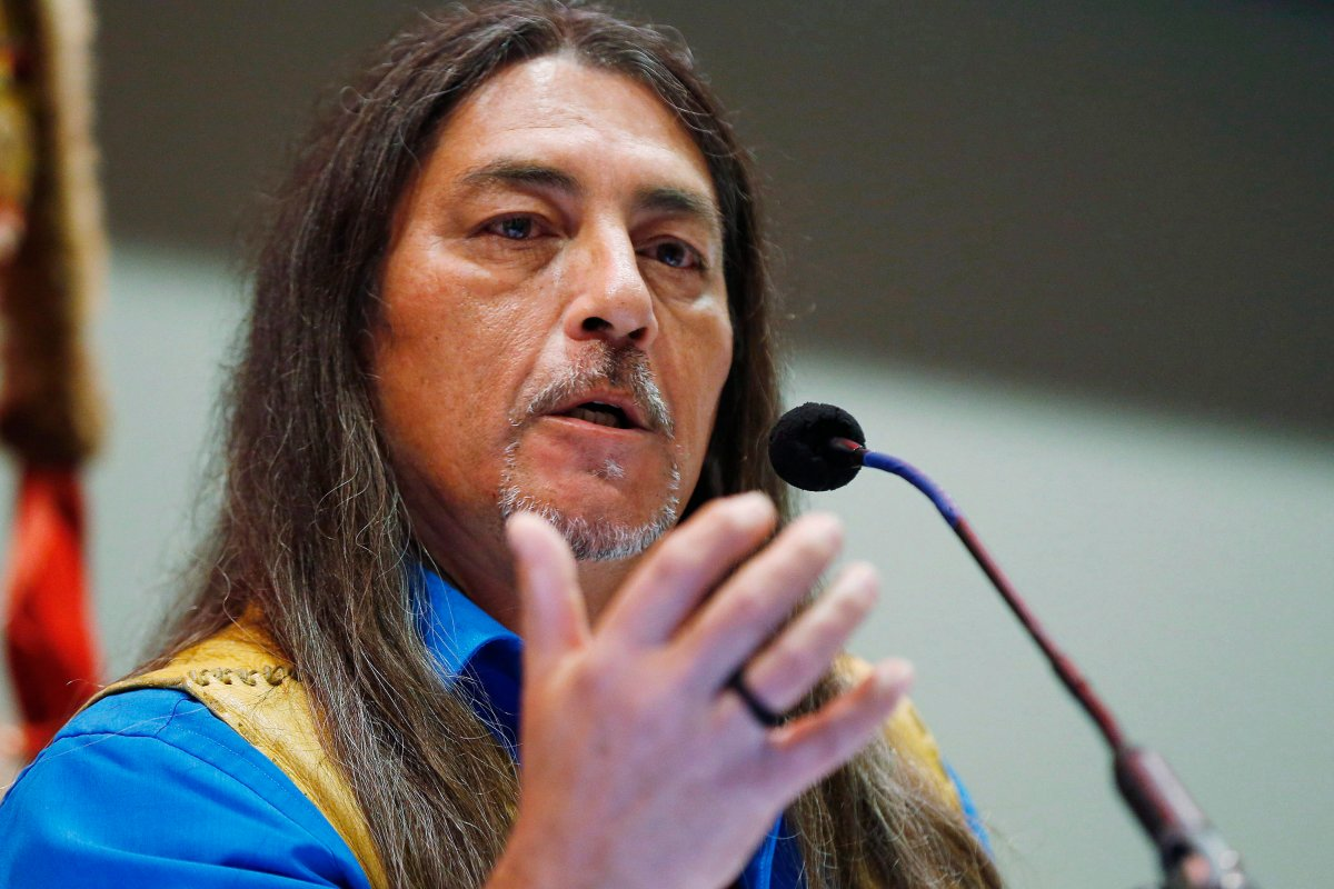 Grand Chief Serge Simon, Mohawk Council of Kanesatake, says it wasn't his place to make such remarks.