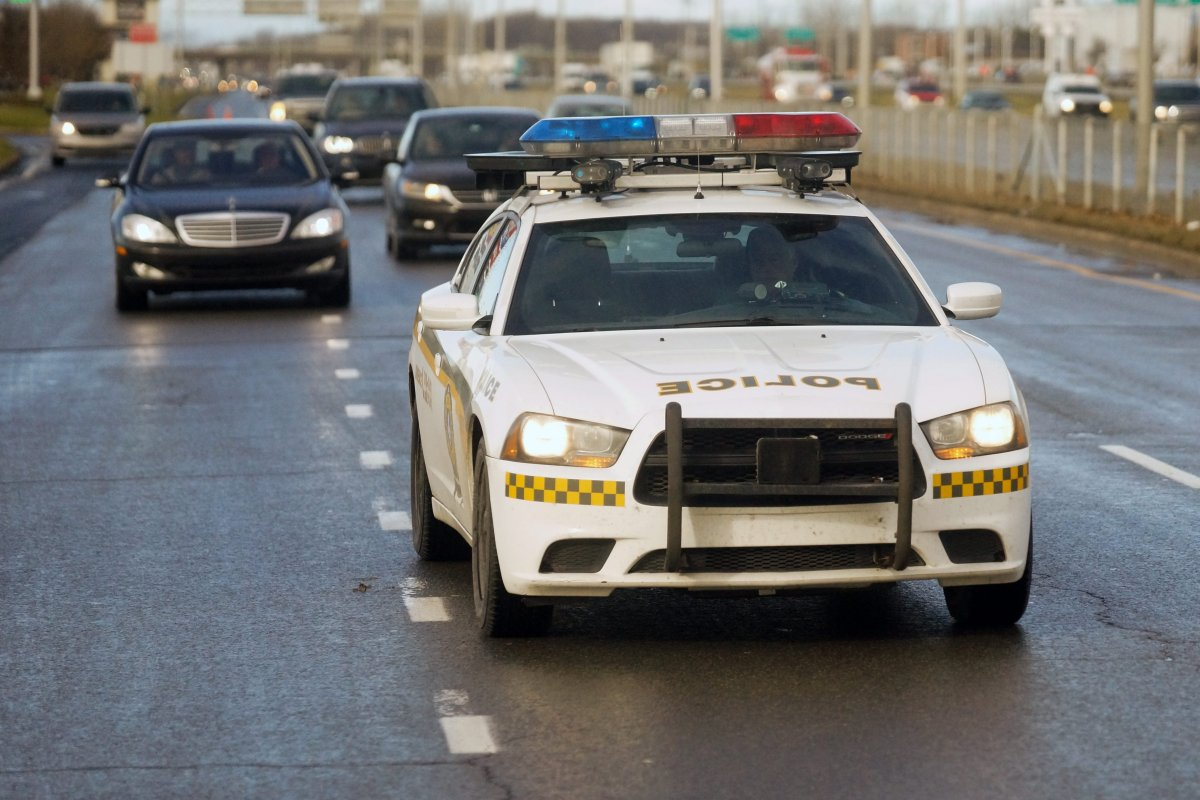 An SQ patrol car in Laval, Que., in this file photo.