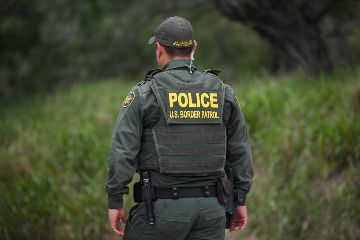 A U.S. Border Patrol agent is seen at the U.S.-Mexico border in Mission, Texas, U.S., July 1, 2019.