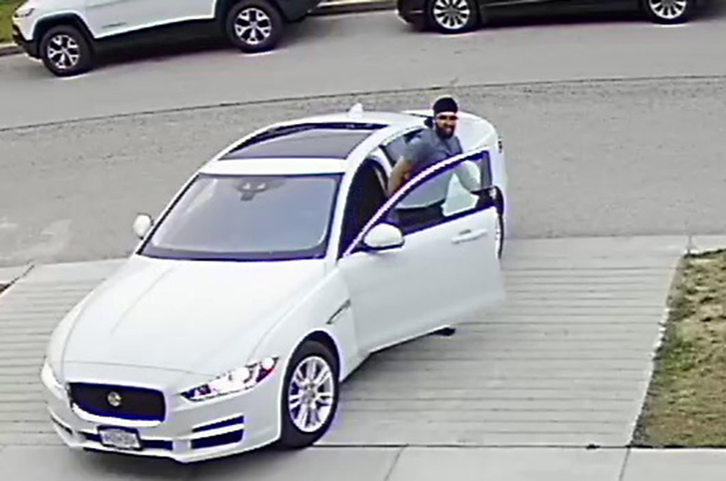 Security footage shows what Surrey RCMP say is a suspect in an alleged sexual assault that took place on July 16, 2019.