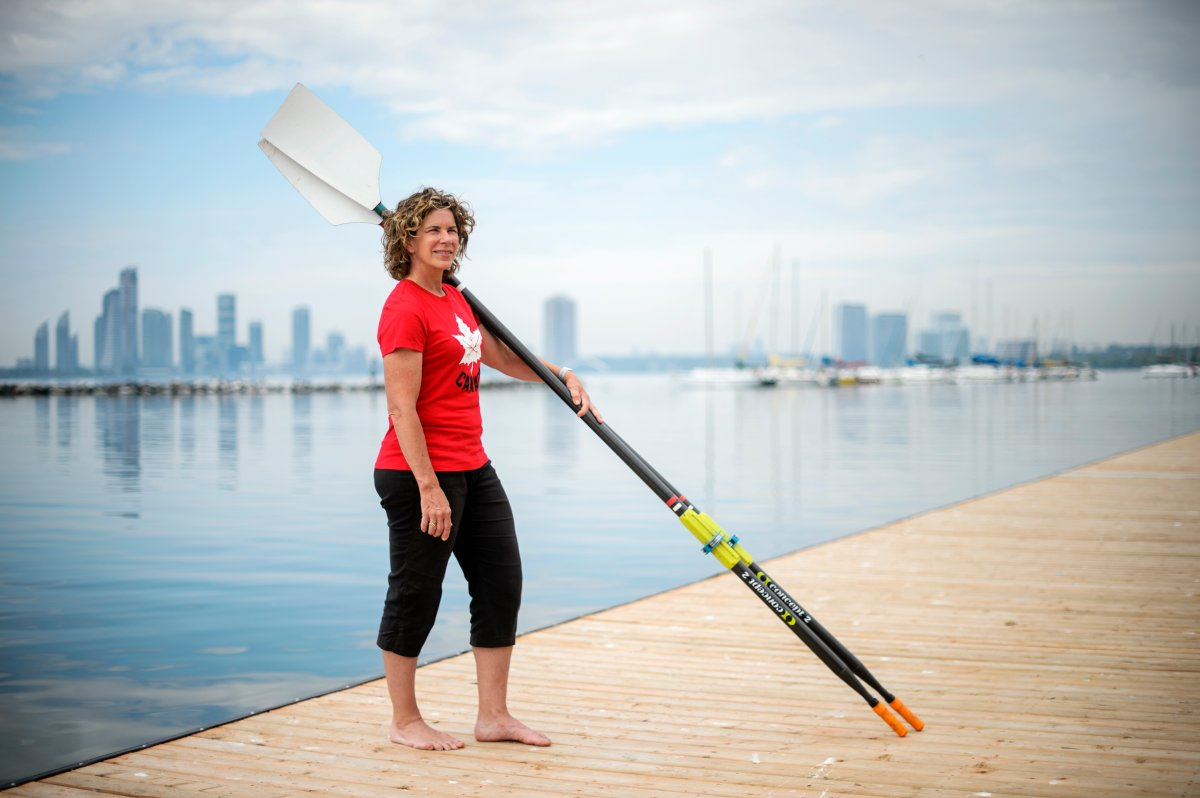 Team Canada's Chef de Mission for the Tokyo 2020 Olympic Games, Marnie McBean, poses for a portrait at the Argonauts Rowing Club on June 28, 2019.