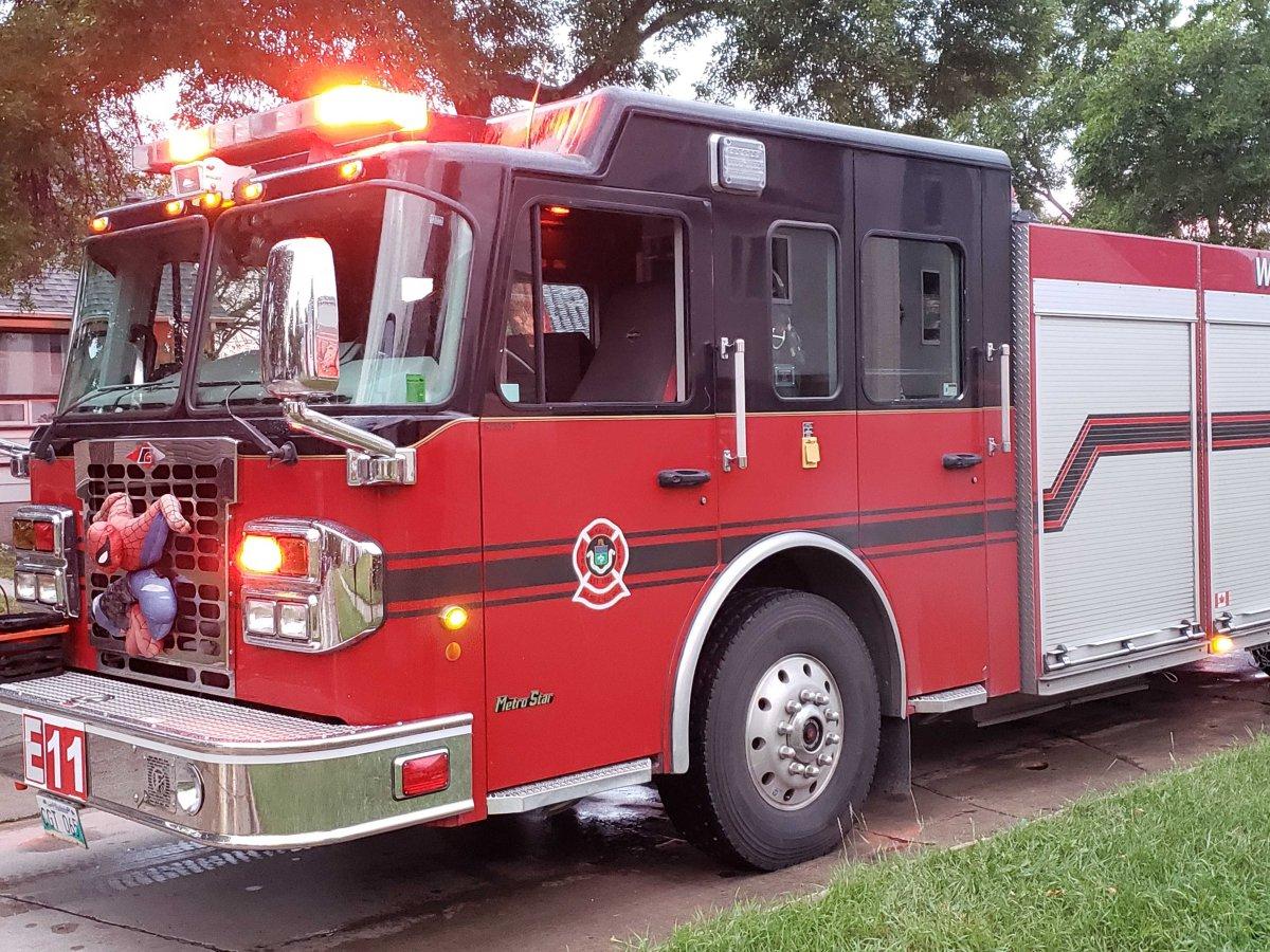 A Winnipeg Fire Department truck.