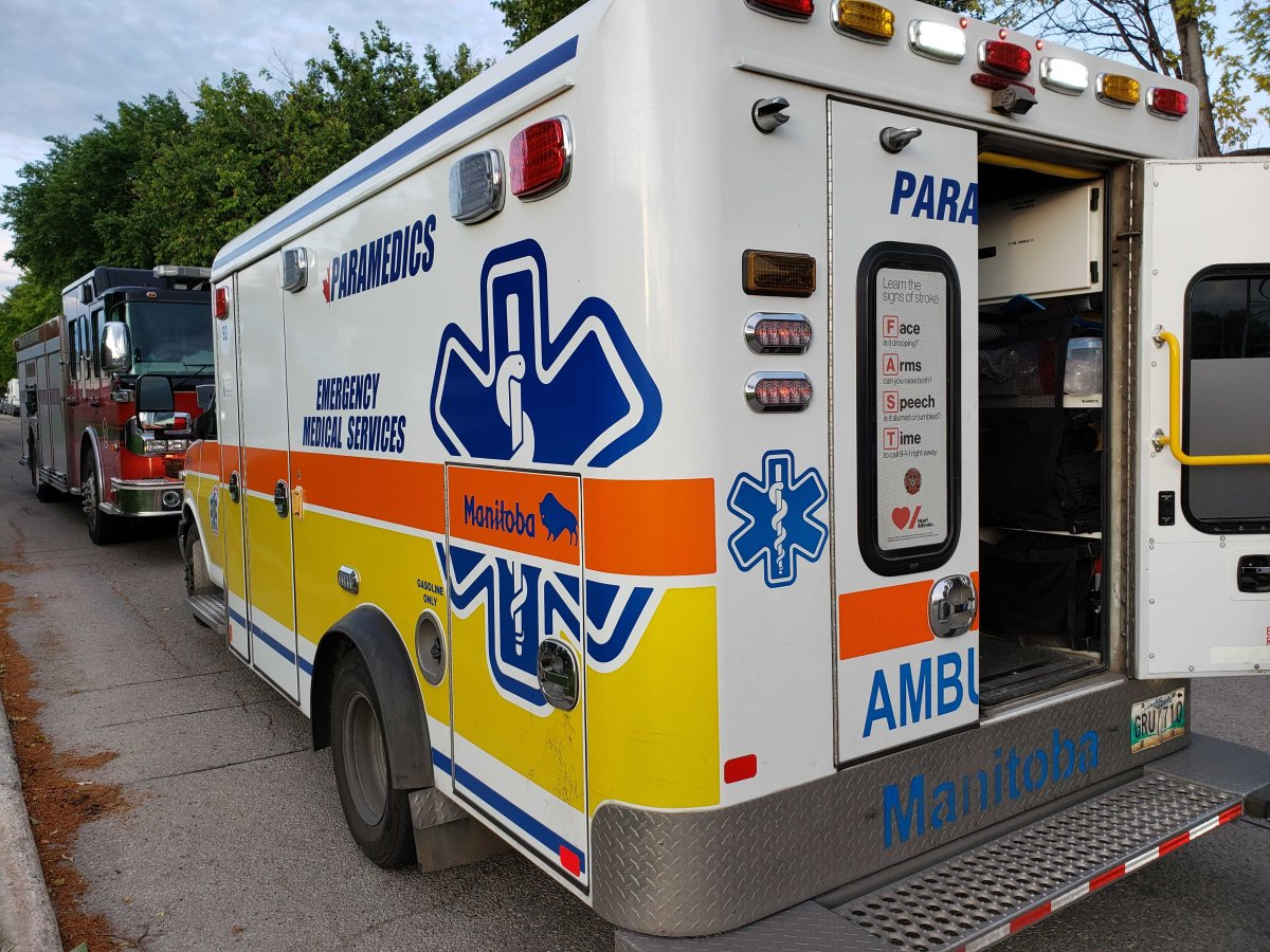 Paramedics on the scene in Winnipeg.