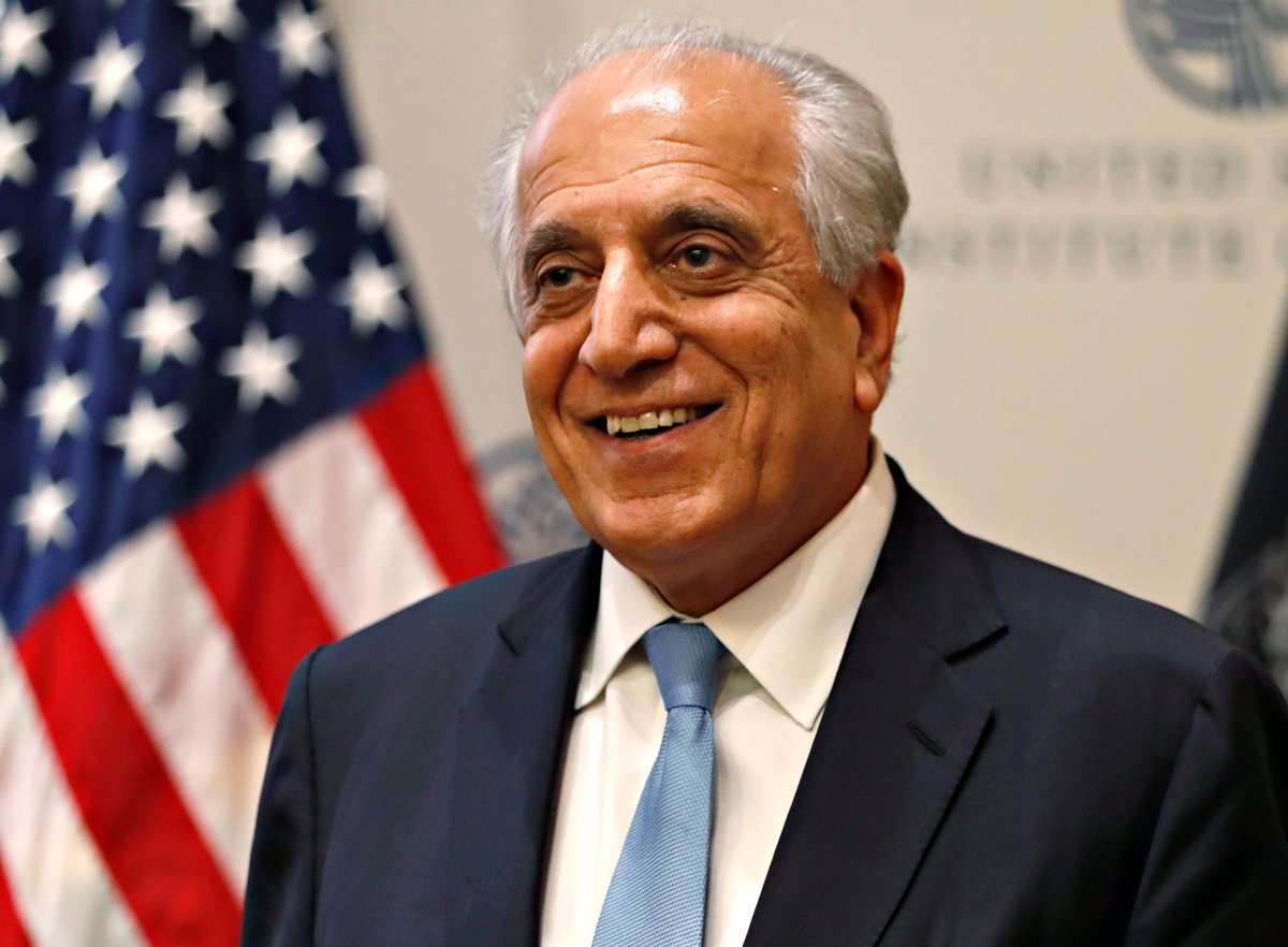In this Feb. 8, 2019, file photo, Special Representative for Afghanistan Reconciliation Zalmay Khalilzad at the U.S. Institute of Peace, in Washington.