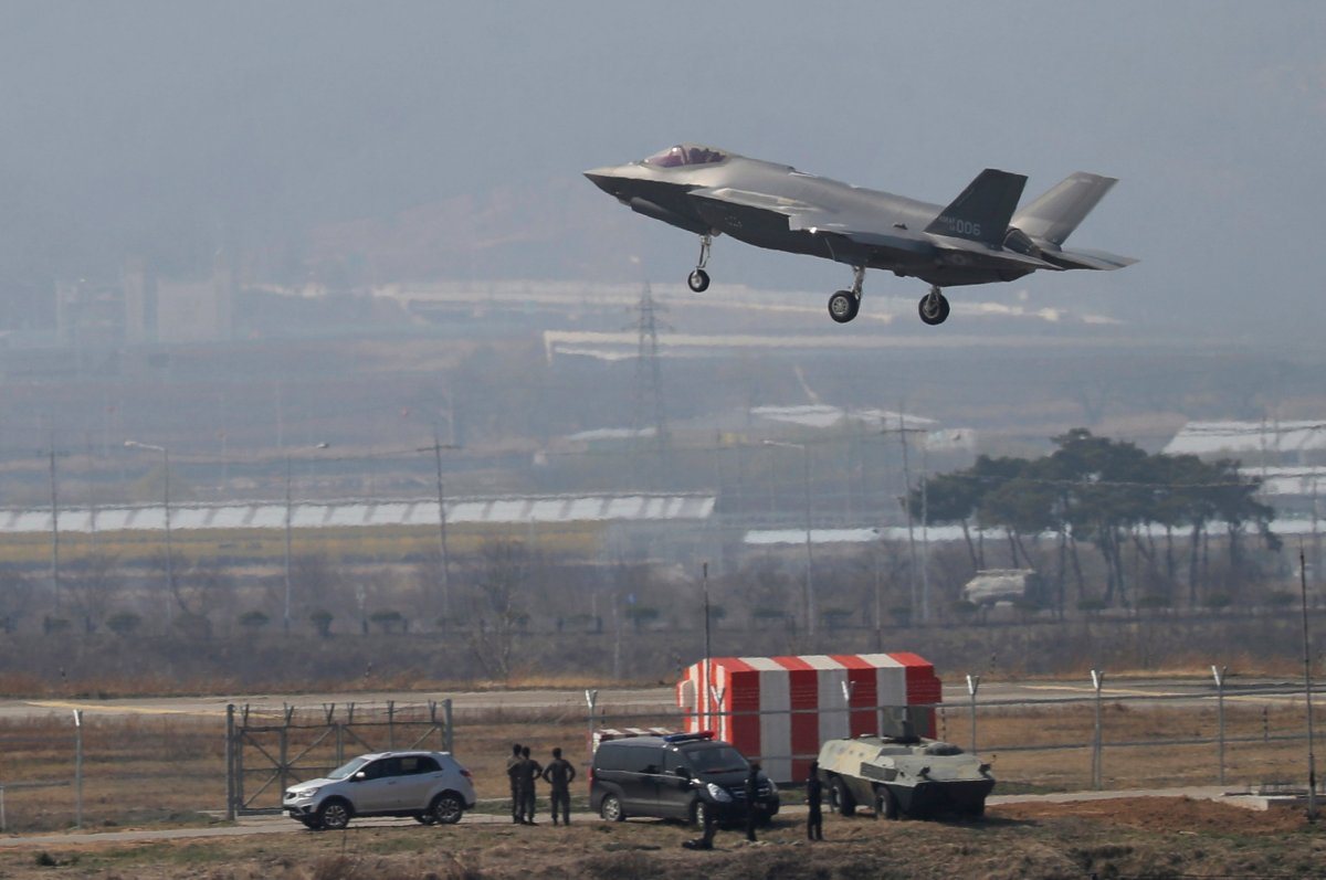 North Korea on slammed South Korea on Thursday for introducing high-tech U.S. stealth fighters, warning that it will respond by developing unspecified special weapons.