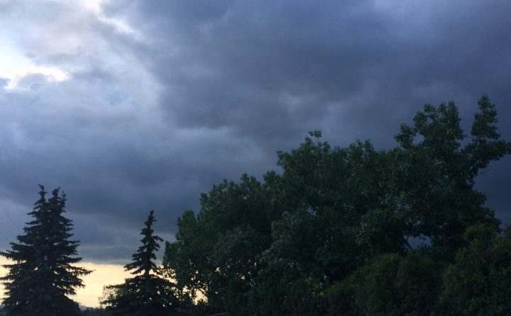 A thunderstorm warning was issued for Calgary on July 7, 2019.