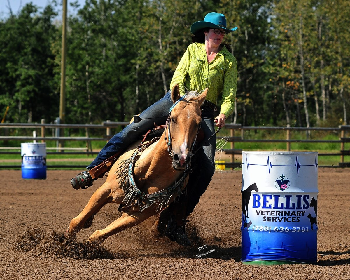 Barrel racing is shown here in this file photo.
