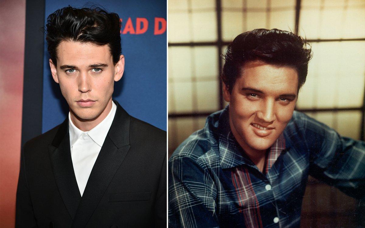 (L-R): Austin Butler and Elvis Presley.