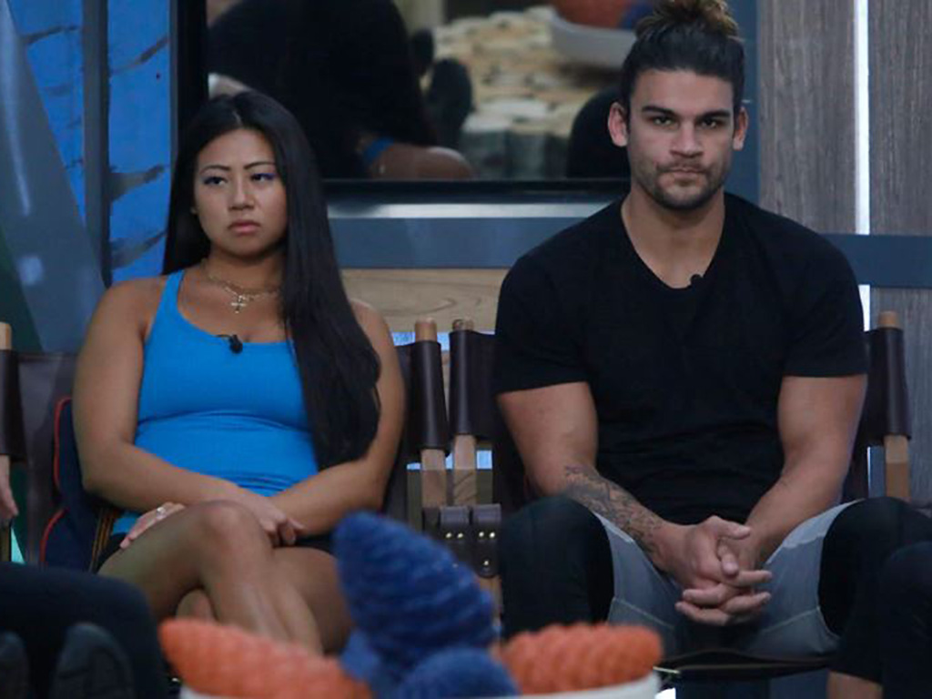 Isabella (L) and Jack await their fate on 'Big Brother.'.