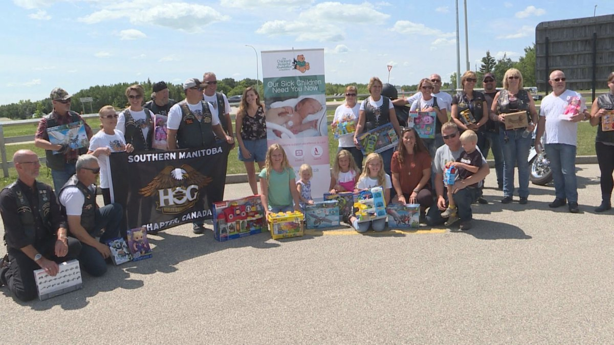 Riders with the Southern Manitoba Harley Owners Group Chapter held their annual toy run.