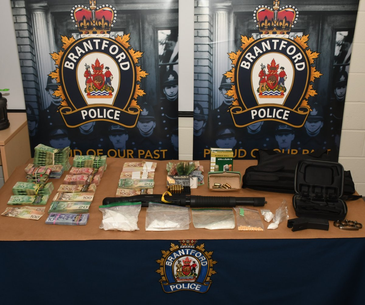 Police say they arrested nine people connected to $200K in street drugs seized in Kitchener and Brantford on Tuesday.