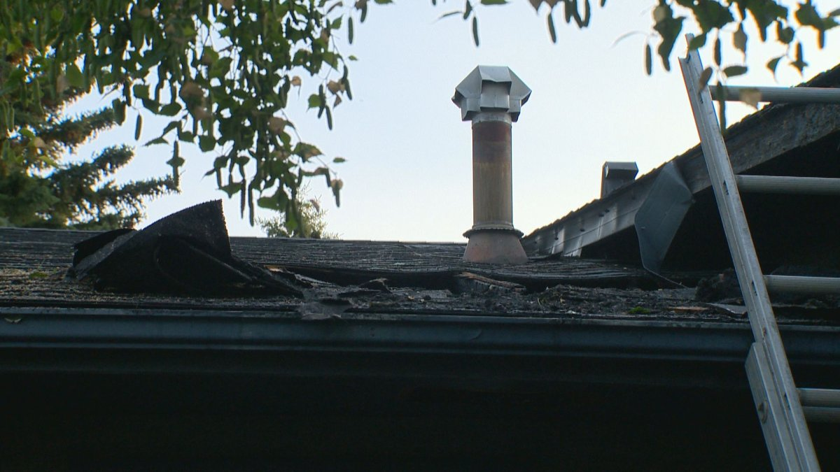 Calgary Fire said it was called to a house fire in Brentwood after a lightning strike Sunday.