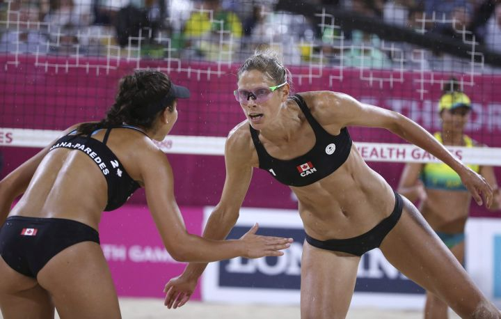A 2018 file photo of Sarah Pavan and Melissa Humana-Paredes.
