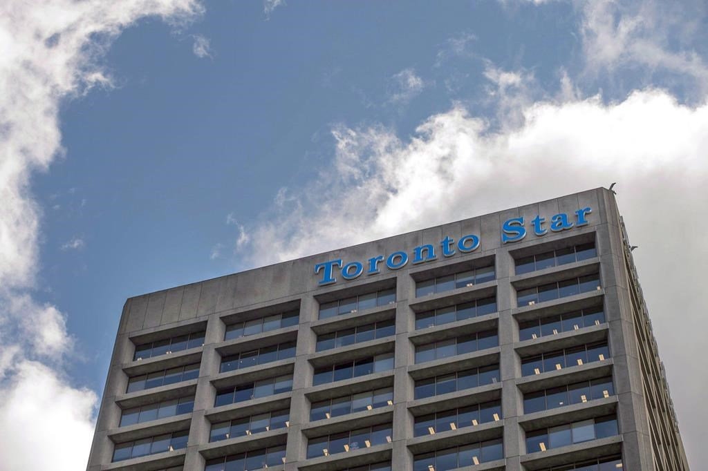 FILE: The Toronto Star building is shown in Toronto on June 8, 2016.