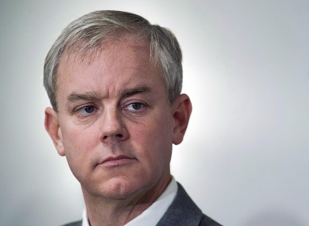 Dennis Oland attends a news briefing by his legal team in Saint John, N.B., on Nov. 20, 2018.