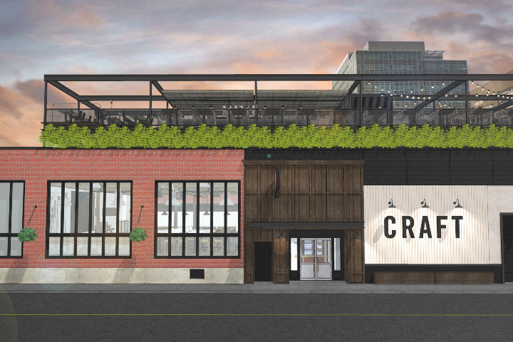 An exterior rendering of Craft in Calgary's Beltline after renovations are complete.