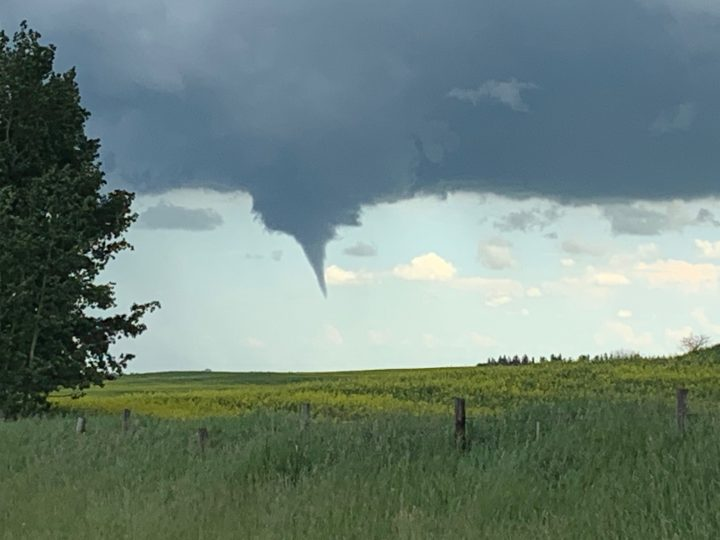 A funnel cloud was spotted in Crossfield on Sunday, July 14, 2019.