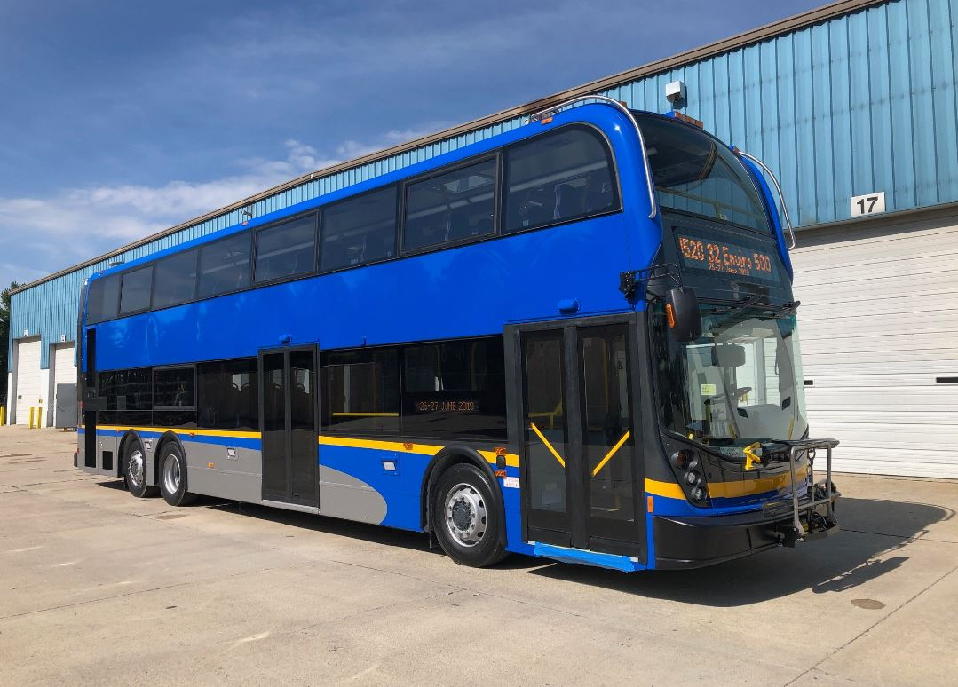 A view of the new double-decker bus coming to TransLink's fleet in Metro Vancouver.