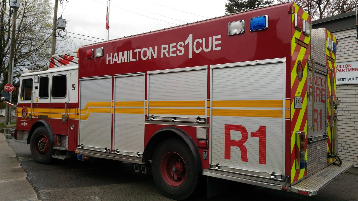 Hamilton fire fought a blaze on the east mountain on 44 Street East on Sunday afternoon.