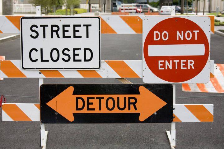 The closure begins Saturday Nov. 7 at 6 a.m. and will last until 11 p.m. Sunday, Nov. 8.