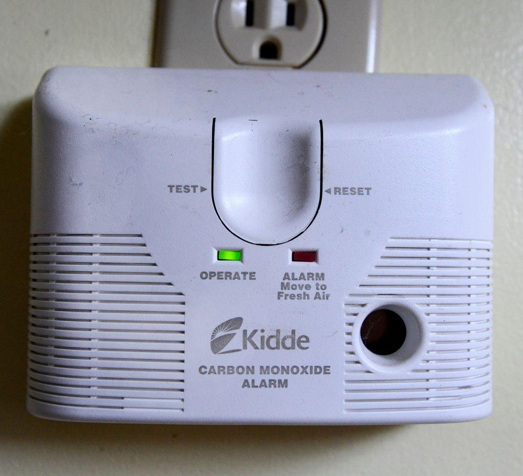 A plug-in carbon monoxide detector.
