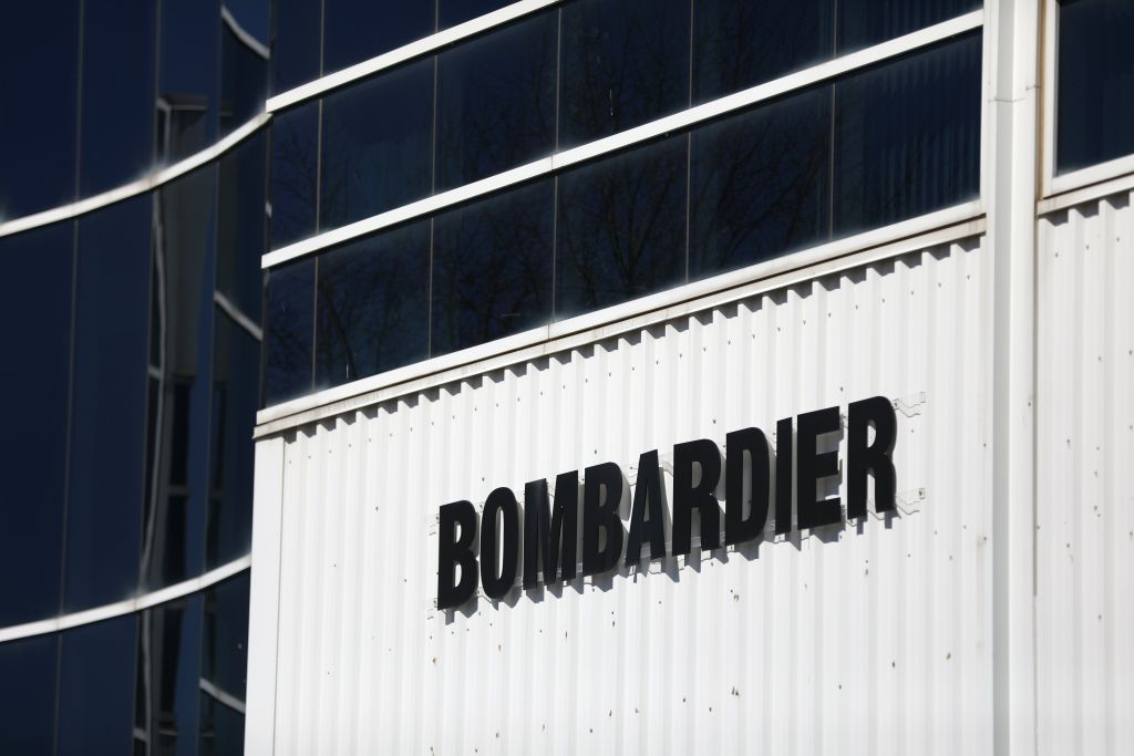 Bombardier shares fell 22 cents to a low of $1.43 in late-afternoon trading on the Toronto Stock Exchange.