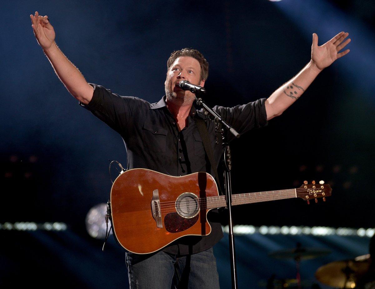 Blake Shelton performs onstage during the 2018 CMA Music festival at Nissan Stadium on June 8, 2018 in Nashville, Tenn.