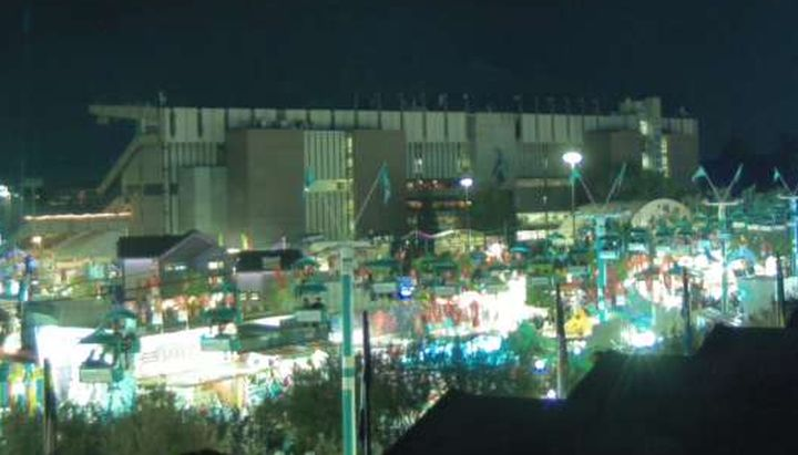 Officials are looking into why an elevator at the Calgary Stampede was stuck on Saturday, trapping passengers inside.