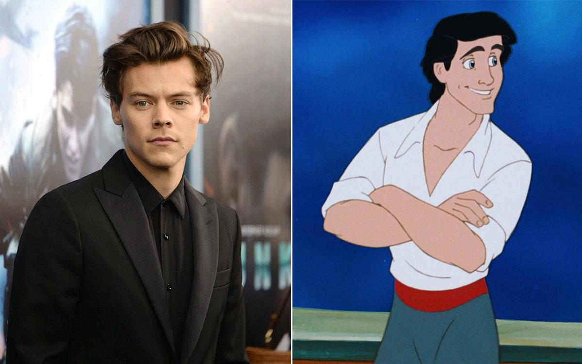 (L-R): Harry Styles and Prince Eric.