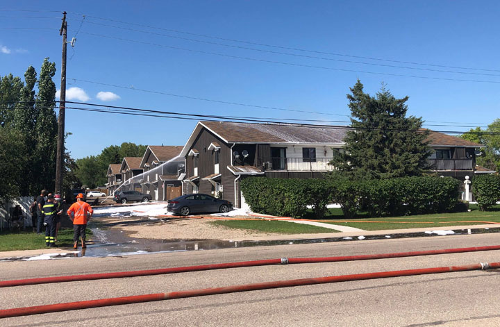 Firefighters were stretched to their limits during a blaze on Main Street, according to the Martensville Fire Department.