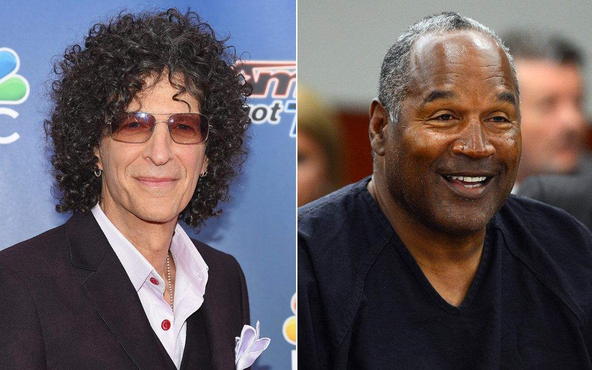 (L-R): Howard Stern and O.J. Simpson.