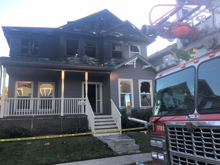 Calgary firefighters battled a blaze in the southeast community of Prestwick just after 10 p.m. on Thursday, July 25, 2019.